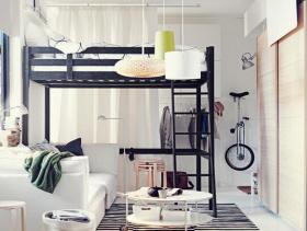 简约风格卧室背景墙装修效果图-简约风格卧室家具图片