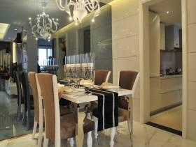 120m²复式楼后现代风格餐厅吊顶装修图片-后现代风格餐桌椅图片