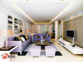 现代简约风格客厅电视背景墙装修效果图-现代简约风格边几图片