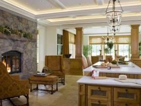 美式风格大户型开放式厨房装修效果图