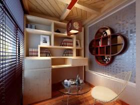新中式风格书房吊顶装修效果图-新中式风格椅凳图片