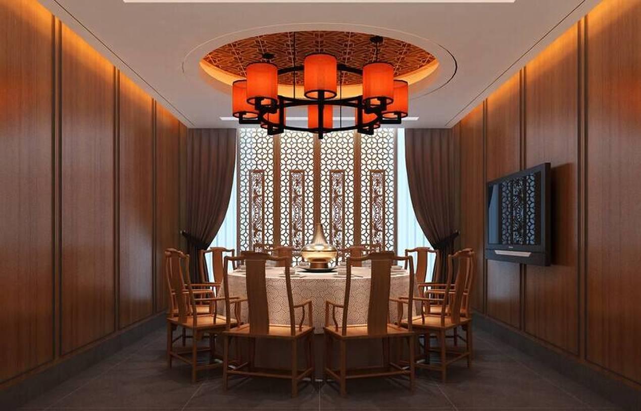 中式风格火锅店包间装修效果图-中式风格吊灯图片