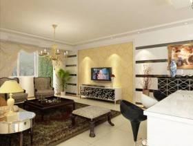 现代风格三居室客厅电视墙装修效果图,现代风格吊顶图片