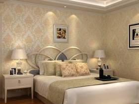欧式风格欧式壁纸卧室装修效果图-欧式风格双人床图片