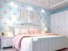 韩式田园风格卧室背景墙装修效果图,韩式田园风格卧室壁纸图片