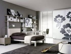 简约风格卧室创意收纳装修图片-简约风格实木家具衣柜图片