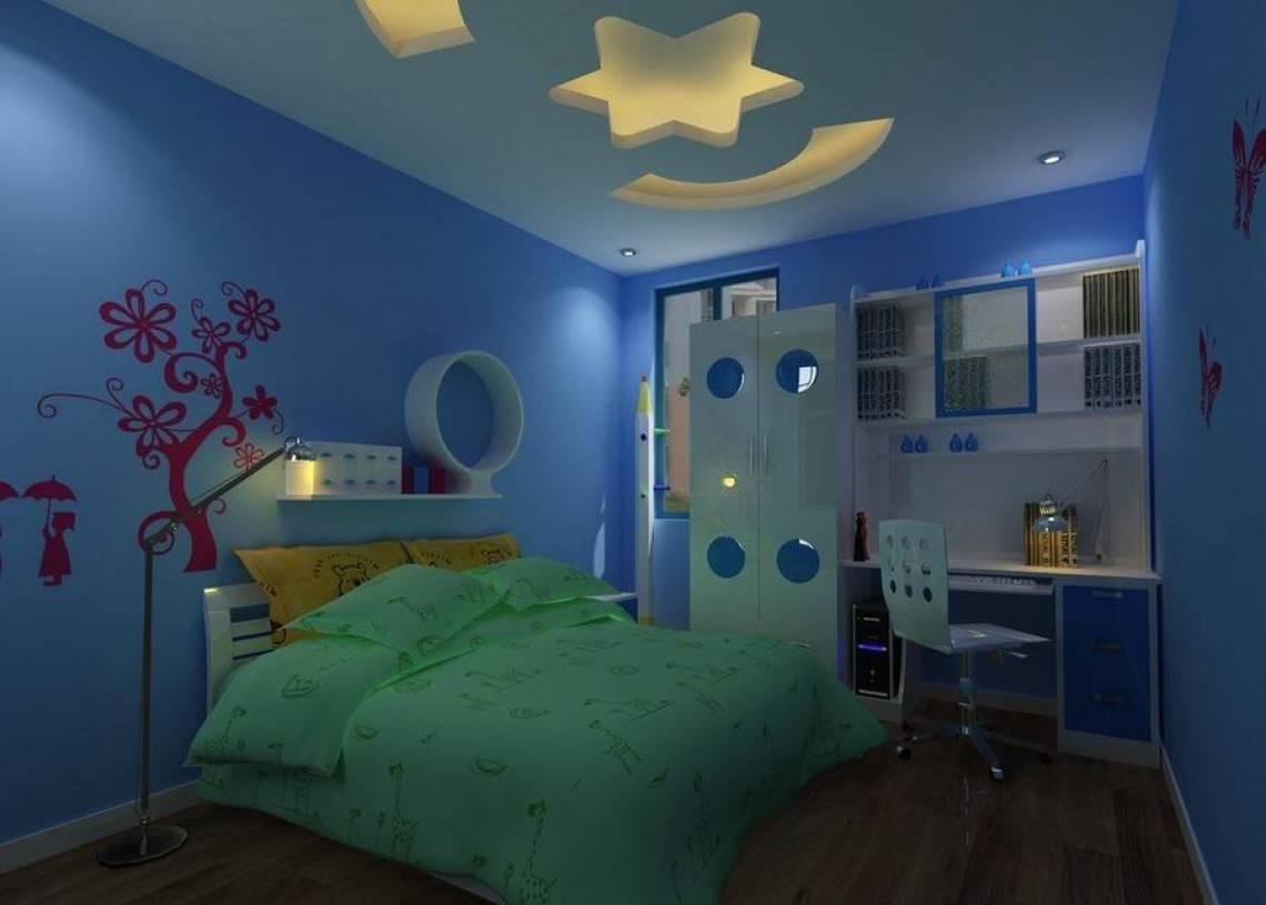 现代风格儿童房床头背景墙装修效果图-现代风格儿童椅