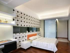 现代简约风格大户型主卧室背景墙装修效果图