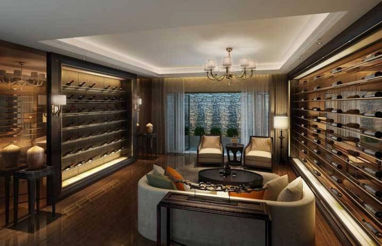后现代风格酒窖酒柜装修效果图-后现代风格边几图片