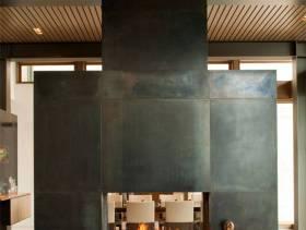 现代简约风格别墅客厅背景墙装修图片-现代简约风格实木茶几图片