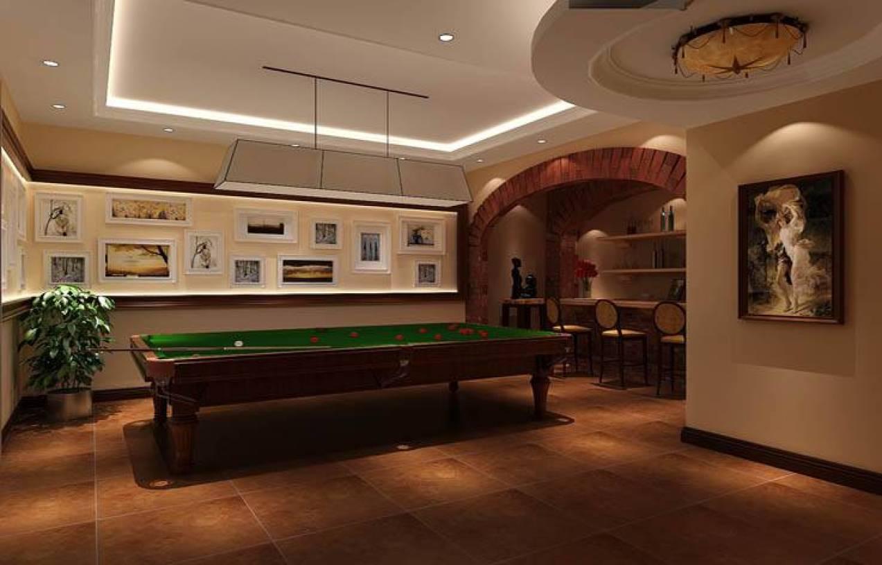 别墅地下室休闲娱乐室装修效果图图片