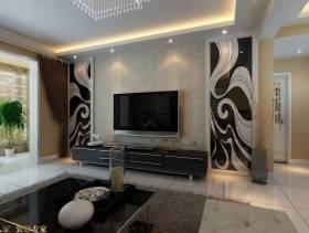 2013现代风格客厅电视墙效果