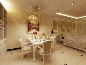 86m²小户型欧式风格餐厅吊顶装修效果图-欧式风格餐桌椅图片