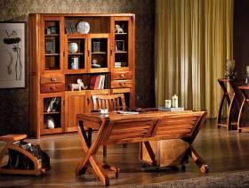 中式风格书房金丝楠木家具图片