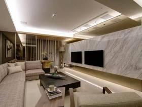 100㎡二居室简约风格客厅电视背景墙装修效果图-简约风格沙发图片