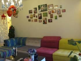 地中海风格小户型客厅照片墙装修图片-地中海风格沙发图片