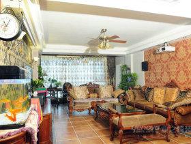 法式风格四居室客厅设计效果图