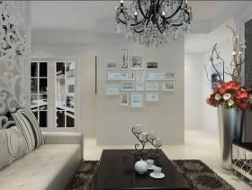 现代简约风格客厅照片墙装修效果图-现代简约风格沙发图片