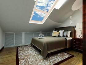140㎡新中式风格斜顶阁楼卧室装修效果图-新中式风格床头柜图片
