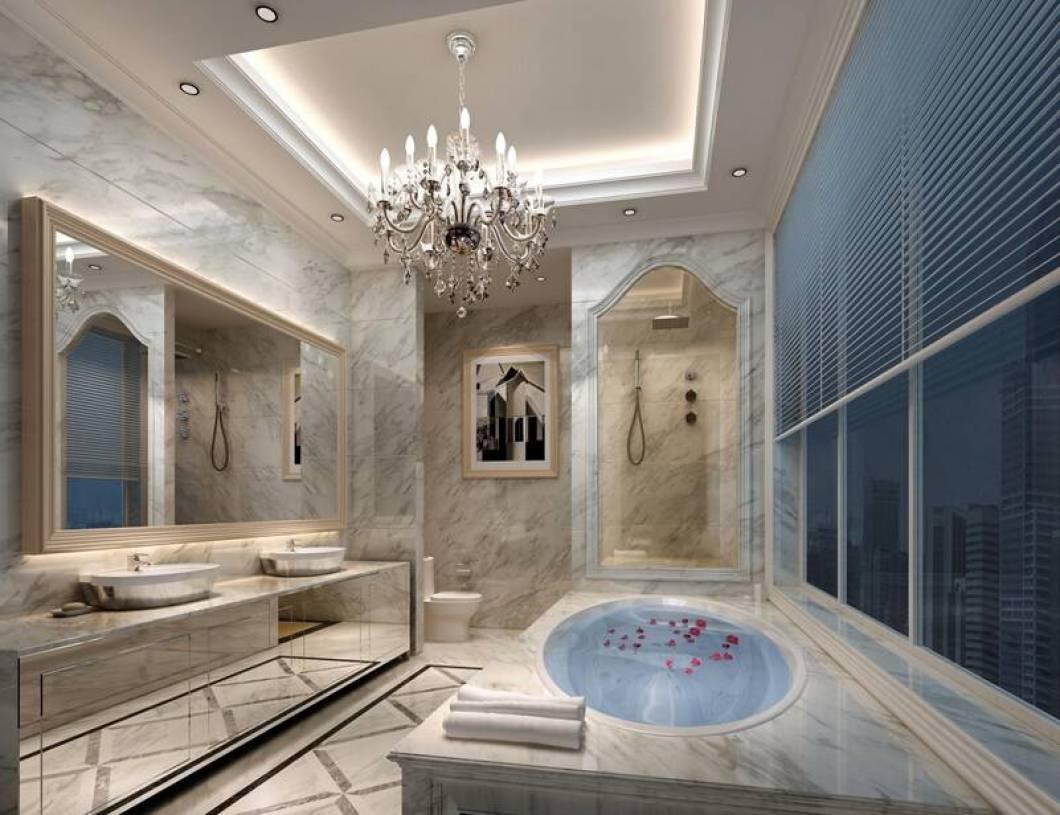 欧式风格浴室装修效果图