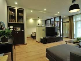 现代风格三居室客厅电视背景墙装修效果图,现代风格吊顶图片