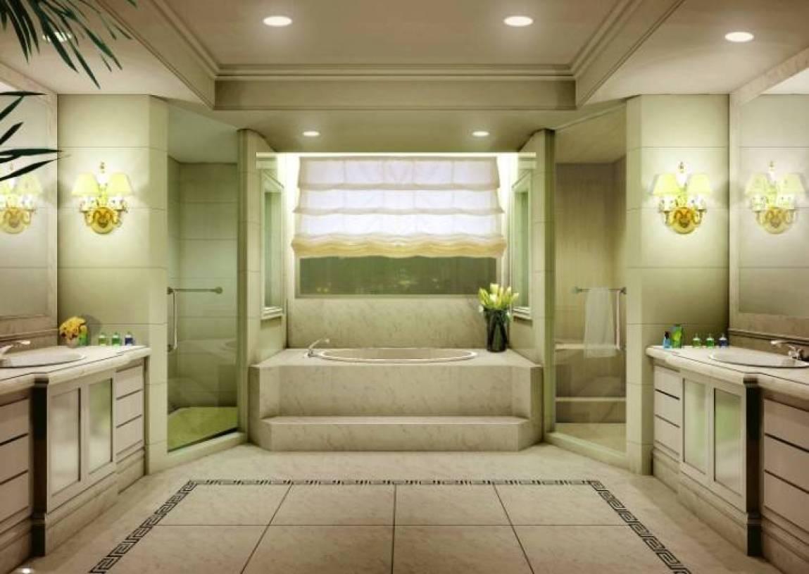 现代风格浴室吊顶装修效果图-现代风格浴缸图片