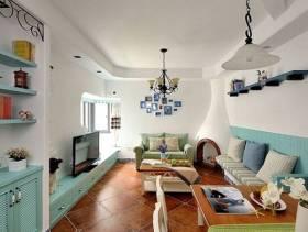 三室一厅地中海风格餐厅吊顶装修效果图