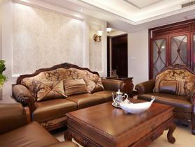 欧式风格客厅沙发背景墙装修效果图-欧式风格沙发图片