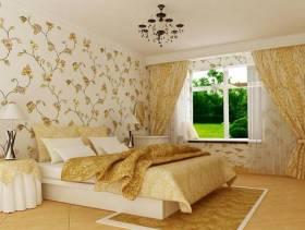 现代风格卧室装修壁纸图片