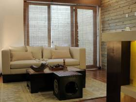 中式起居室装修图片