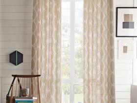 简欧风格小洋楼阳台窗帘罗马杆装修效果图-简欧风格置物架图片