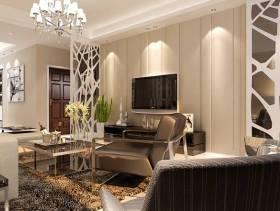 现代风格客厅电视背景墙装修效果图-现代风格茶几图片