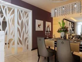 现代简约风格二居餐厅背景墙装修效果图,现代简约风格餐桌椅图片