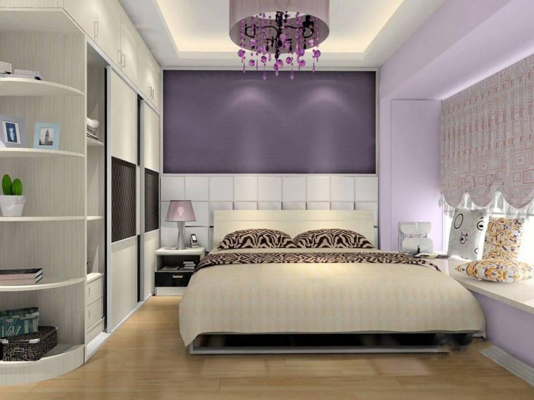 90㎡三居室现代简约风格卧室背景墙装修效果图-现代简约风格卧室衣柜