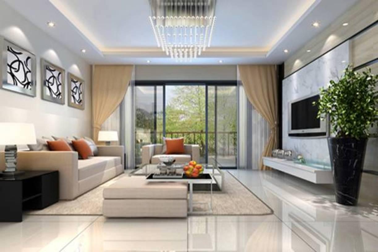 现代简约风格客厅吊顶装修效果图-现代简约风格脚凳图片