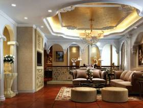 大别墅小空间客厅吊顶设计效果图