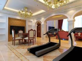 240㎡别墅简欧风格休闲间背景墙装修效果图-简欧风格椅凳图片