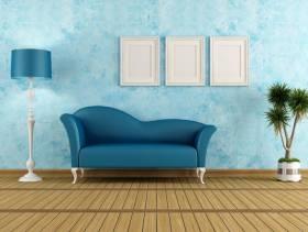 地中海风格客厅沙发背景墙装修效果图-地中海风格沙发图片