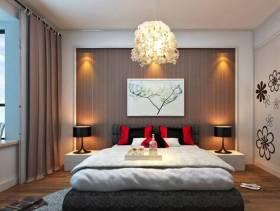现代风格卧室床头背景墙装修效果图-现代风格实木家具衣柜图片