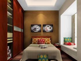 现代风格卧室床头背景墙装修效果图-现代风格实木衣柜图片