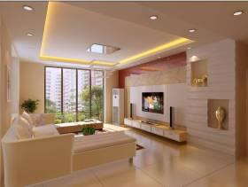 现代简约风格客厅背景墙装修效果图-现代简约风格电视柜图片