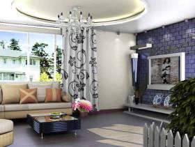 现代简约风格小户型客厅吊顶装修效果图-现代简约风格沙发图片
