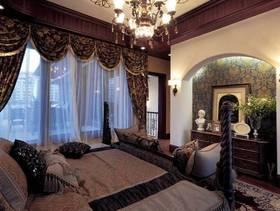 180㎡四居室美式风格卧室背景墙装修图片-美式风格卧室储物柜图片