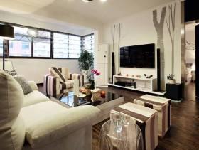 简约风格小户型客厅吊顶装修图片-简约风格沙发椅图片