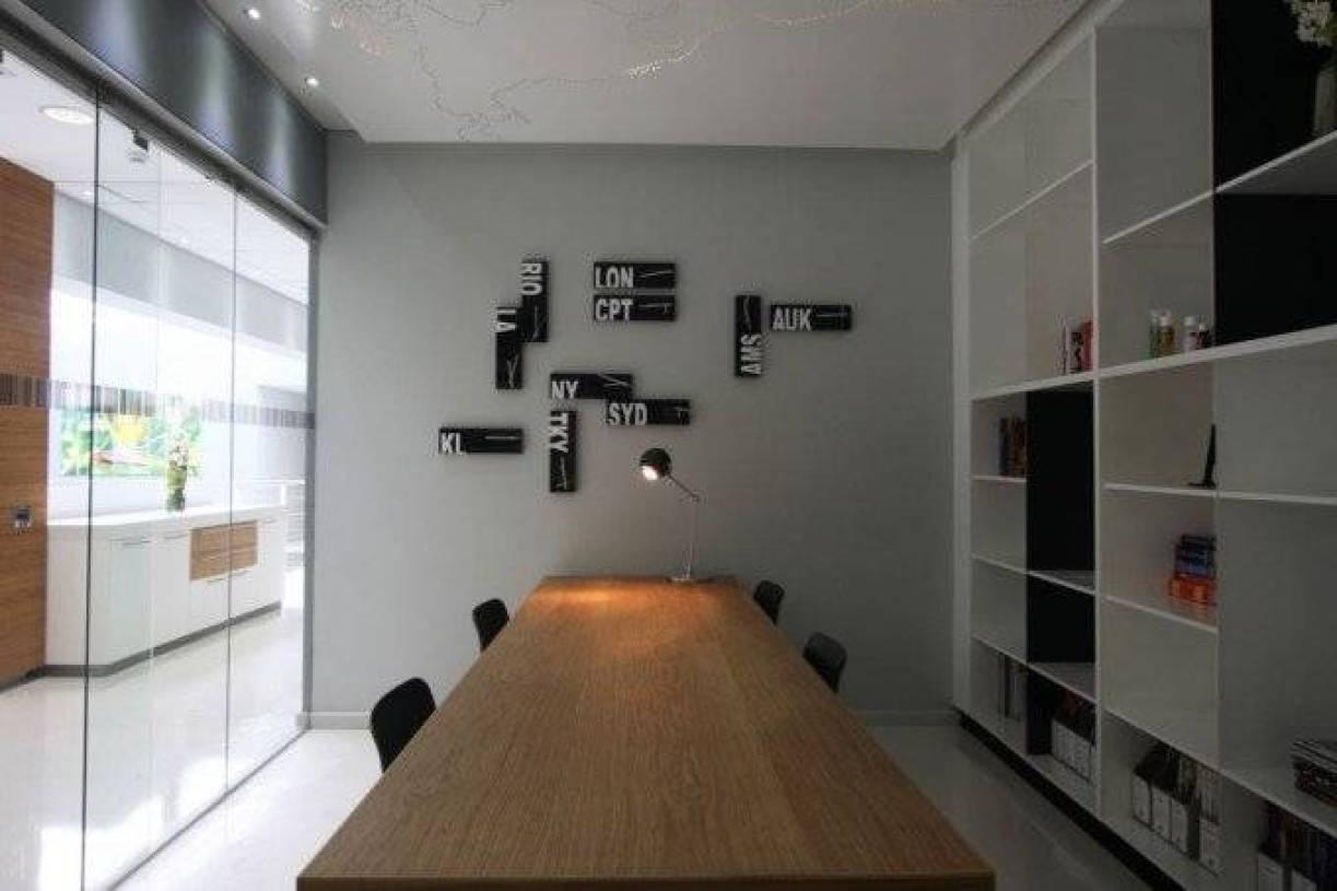 现代风格办公室背景墙设计图片-现代风格办公家具图片图片