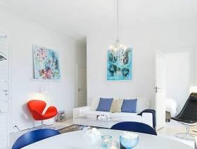 现代简约风格小户型公寓客厅背景墙装修图片-现代简约风格沙发图片
