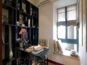 中式风格书房榻榻米地台装修图片-中式风格书桌图片