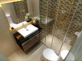 小型卫生间整体俯视设计效果图
