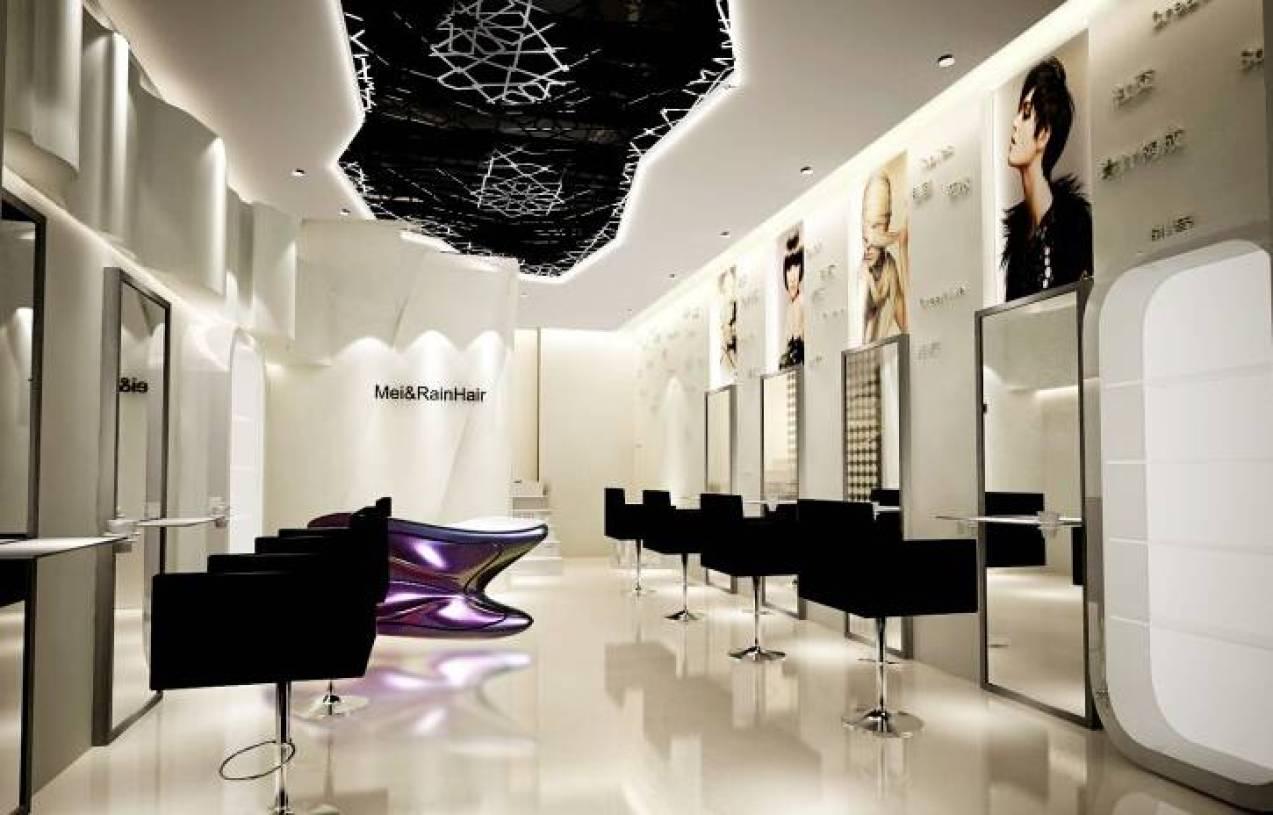[怀旧风的小发廊]理发店装修风格  全网资源 宽658x493高