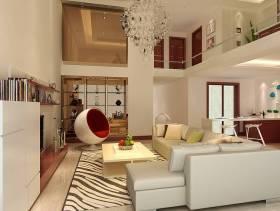 现代时尚别墅客厅效果图欣赏